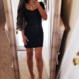 Guess Sweetheart Black Lace Cocktail Dress Party 2